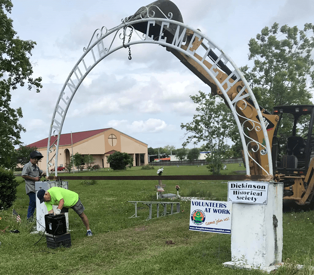 Entrance Arch raised at Magnolia Cemetery
